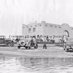 18 - Train Depot during flood 1930s