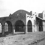 8 - Gilbert Depot built in 1905 and torn down by Southern Pacific in 1965 1st Stationmaster Frederick M. Cannon is in photo
